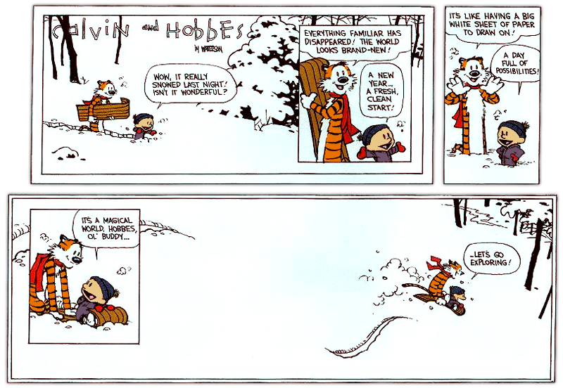 The last calvin and hobbes strip